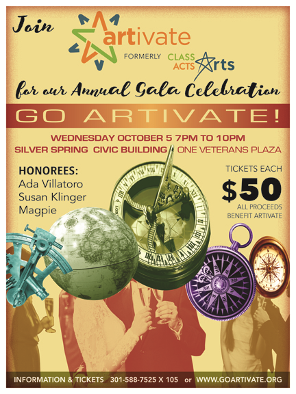 Go Artivate! Gala Celebration – Wednesday, October 5, 2016 7pm – 10pm