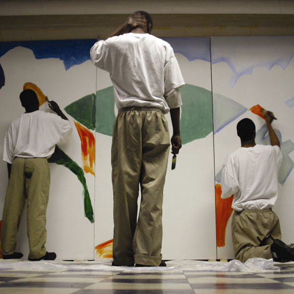 Youth At Risk Painting Wall Mural