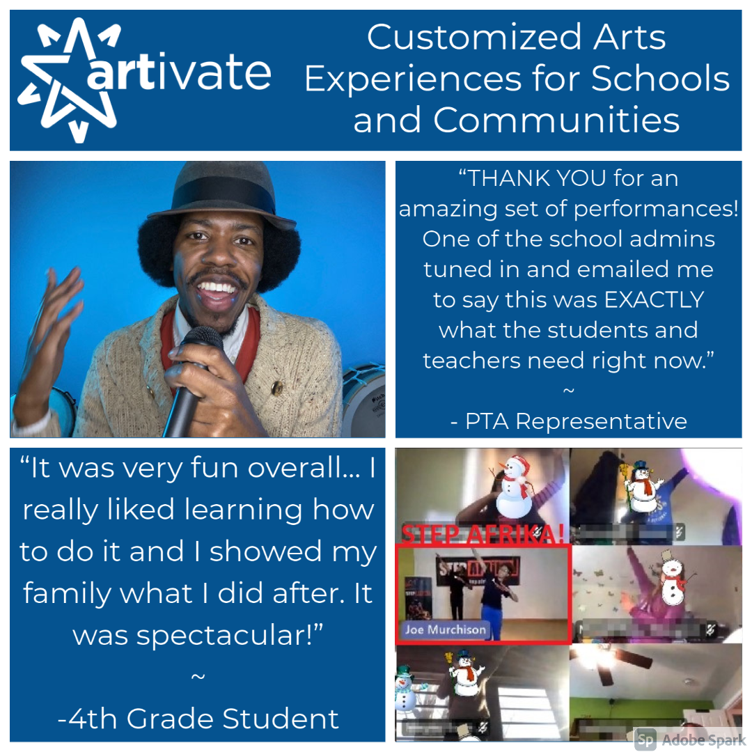 Customized Arts Experiences For Schools And Communities